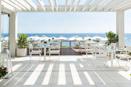Ouzo Greek Restaurant at Ikos Olivia Greece