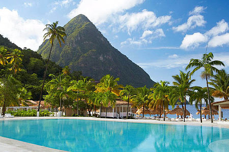 Pool at Sugar Beach St Lucia