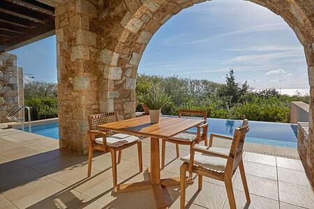 Premium Infinity Suite terrace at Westin Resort Costa Navarino Greece