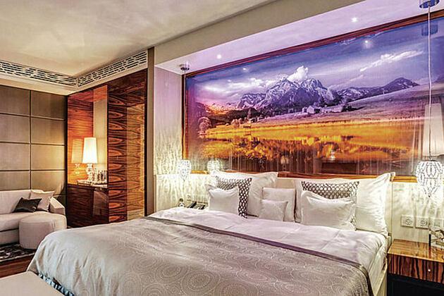 Presidential Suite Master Bedroom at Bad Ragaz Switzerland
