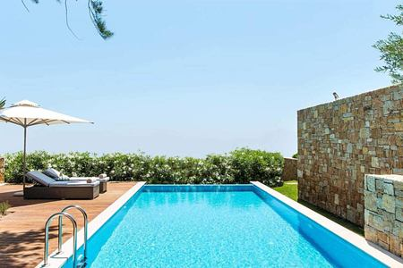 Private pool bungalow suite at Ikos Olivia Greece