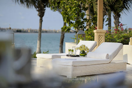 Relaxing by the beach at One and Only The Palm Dubai