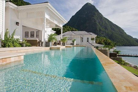 Residence pool at Sugar Beach St Lucia