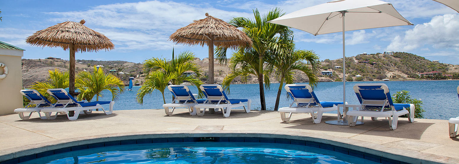 Royal Suite plunge pool at St James Club and Villas Antigua