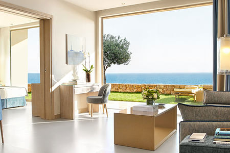 Sea view from Suite at Ikos Oceania Greece