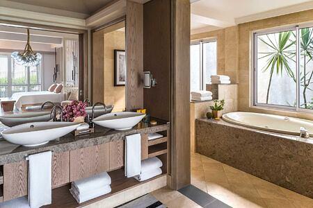 Shangri La Suite Bathroom at Le Touessrok Mauritius