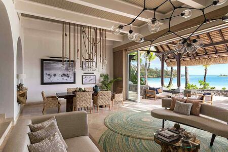 Shangri La Suite Living Area at Le Touessrok Mauritius