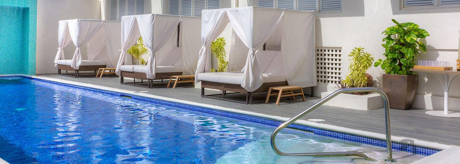 Spa pool at Waves Hotel and Spa Barbados