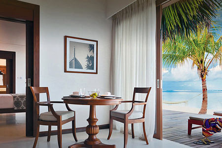 Suite Living area at The Residence Maldives