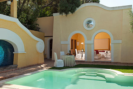 Suite pool at Forte Village Le Dune Sardinia Italy