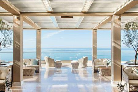 Terrace at Ikos Oceania Greece