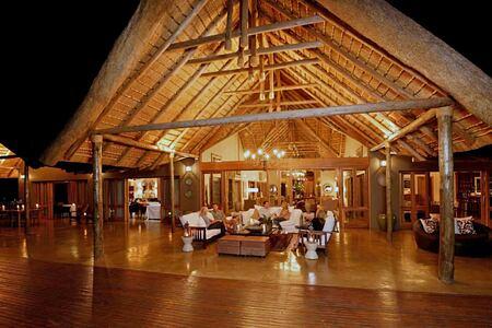 The Lodge at night at Karkloof Safari Spa KZN South Africa