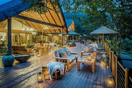 The Lodge deck at Karkloof Safari Spa KZN South Africa