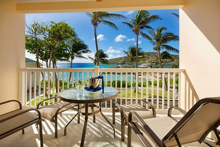 View from Junior suite at St James Club and Villas Antigua