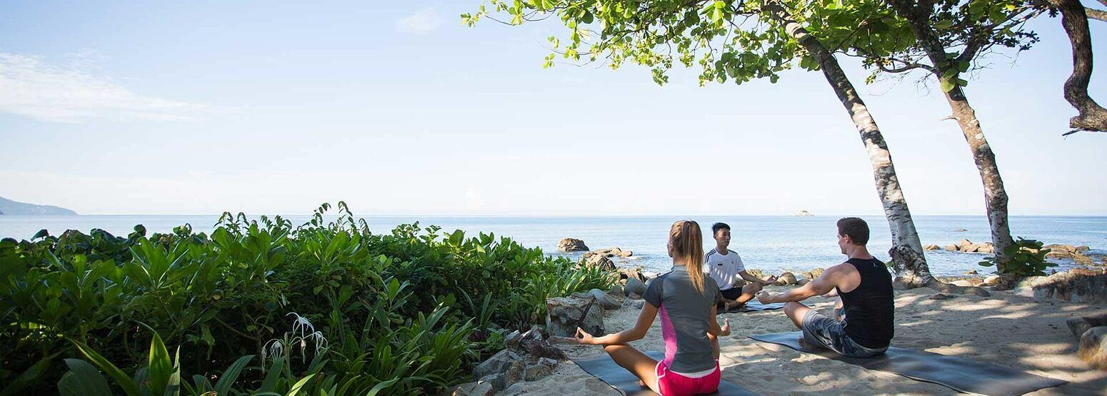 Yoga at Trisara Phuket Thailand