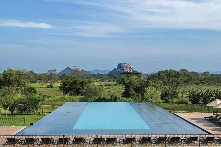 Infinity pool at Aliya Resort and Spa Sri Lanka