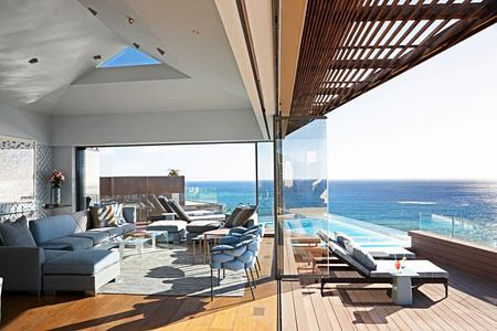 Bantry Bay Lounge and view of ocean