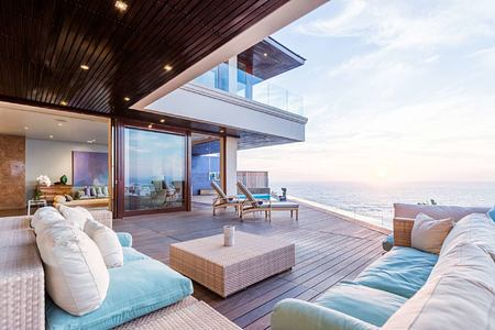 Bantry Bay Villa exterior view with decking