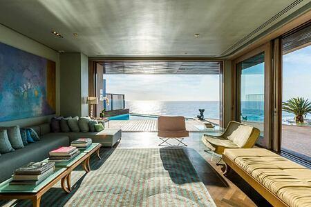 Bantry Bay Villa interior view out to sea