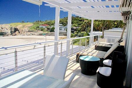Glen Beach Villa deck and beach view