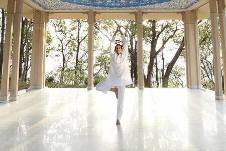 Yoga at Ananda India