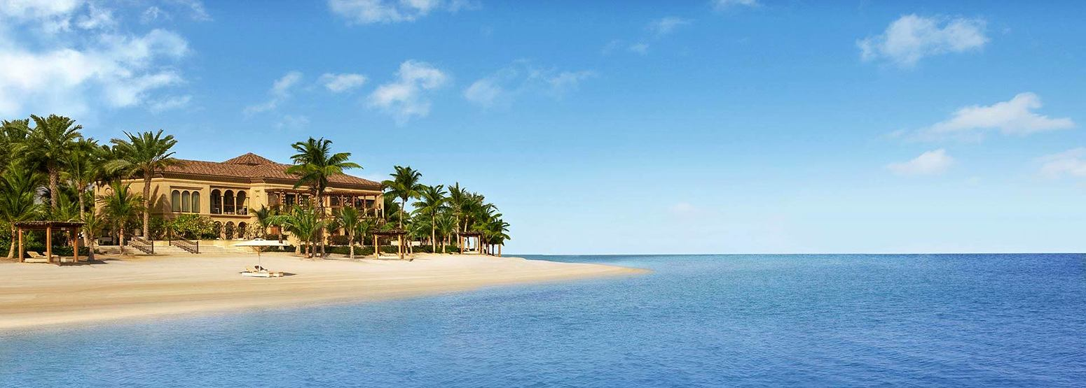 Hotel and beach for destination Dubai