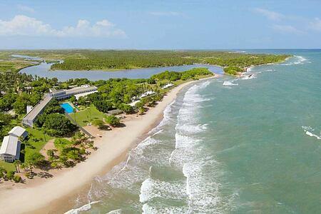 Aerial view of the East Coast of Sri Lanka