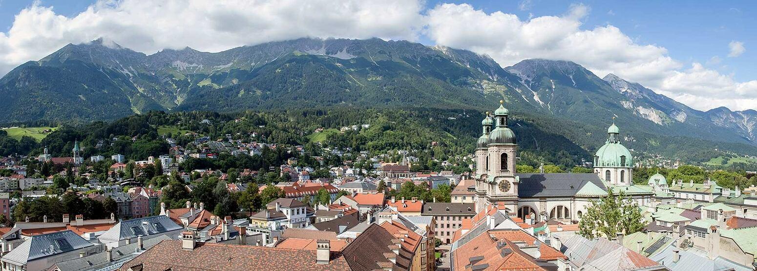 Panoramic view across Innsbruck