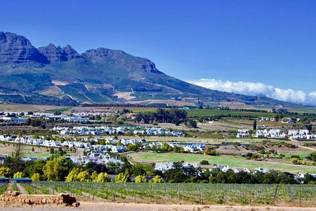 Panoramic view of Stellenbosch