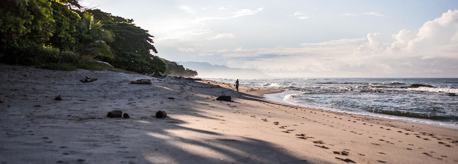 Beach on Pacific Coast of Costa Rica