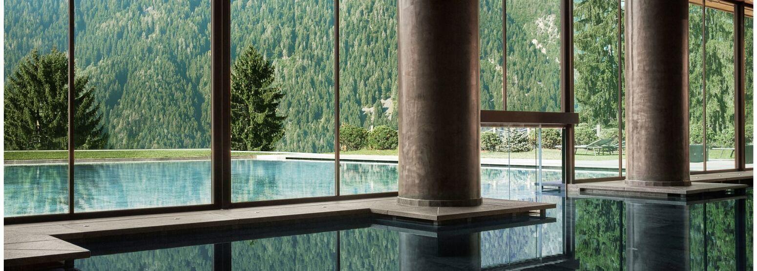 Indoor pool at Lefay Dolomites