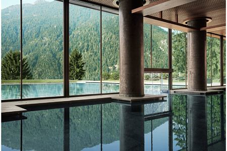 Indoor pool at Lefay Dolomites