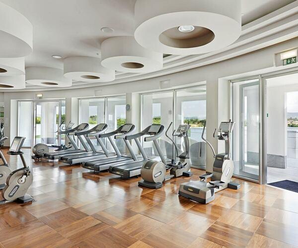 gym with view at conrad algarve