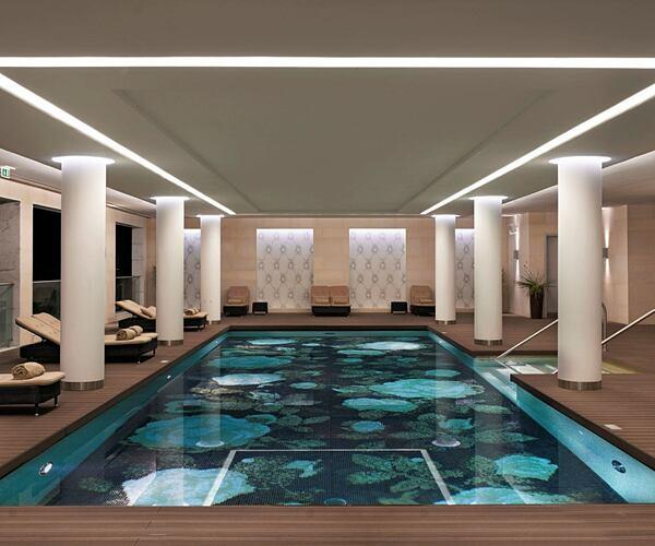 Conrad algarve indoor pool and loungers