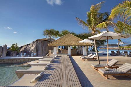 The koko pool bar at six senses zil pasyon seychelles