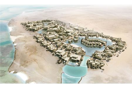 Drone shot taken above Zulal wellness resort qatar