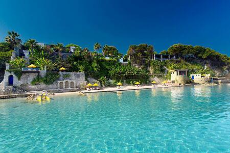 Private beach at Porto Zante resort