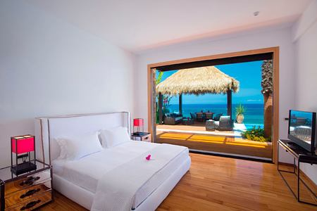 Royal infinity villa bedroom with private pool and terrace