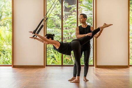 Private reformer pilates class at COMO Canguu