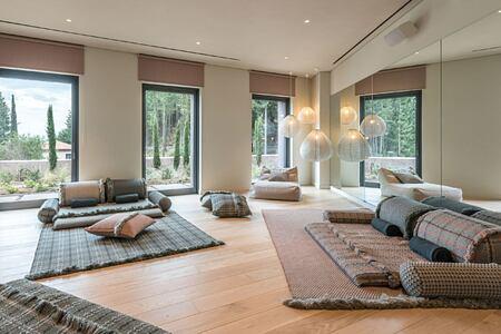 Meditation room at Euphoria Retreat Greece