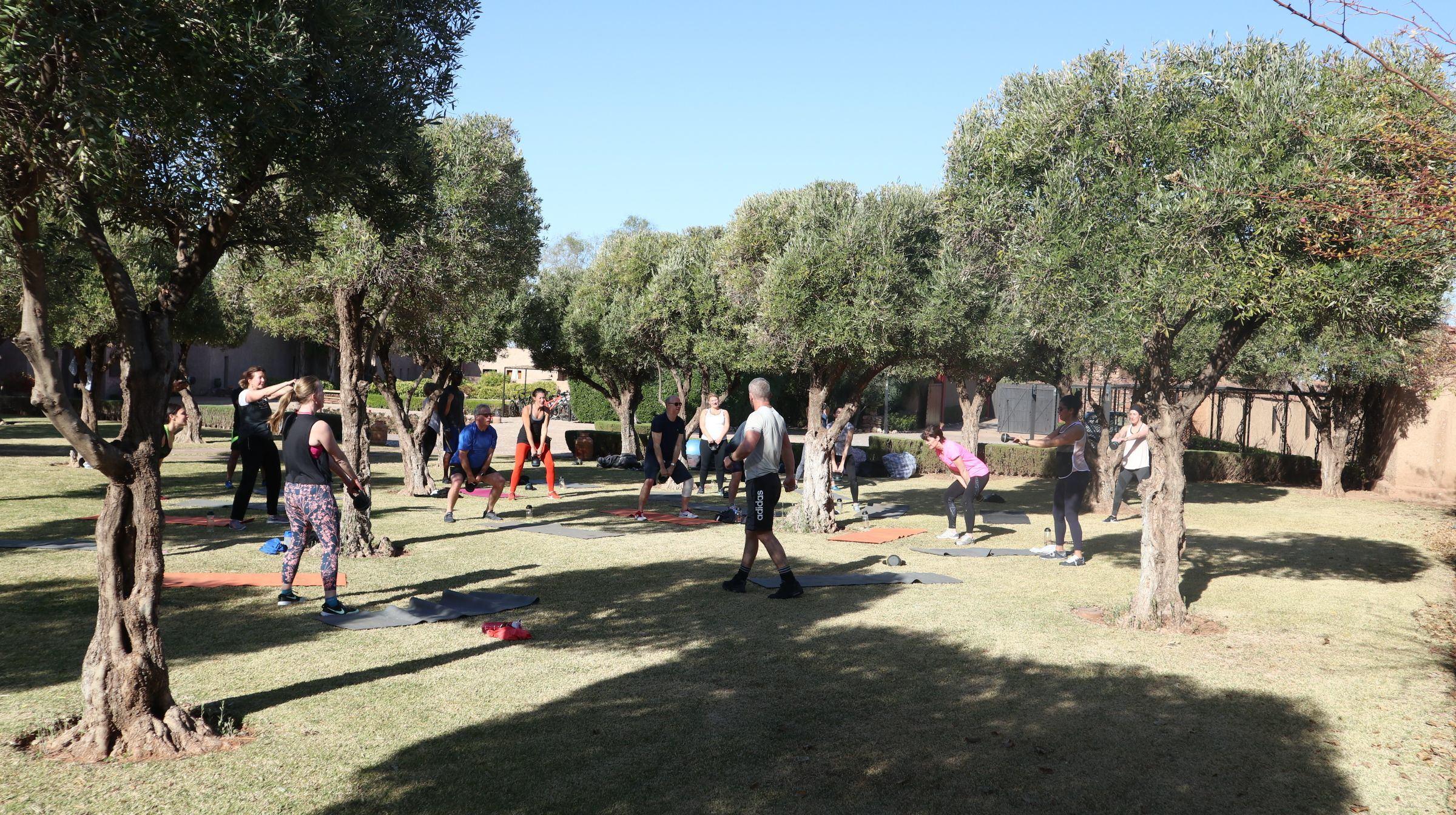 kettle bell workout class at palais paysan