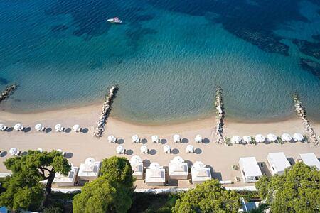 Private Beach at the Danai Beach Resort Greece