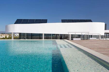 Rooftop pool at the Longevity Alvor Algarve Portugal