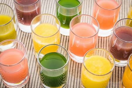 A Selection of Detox Juices at Longevity Vilamoura Portugal