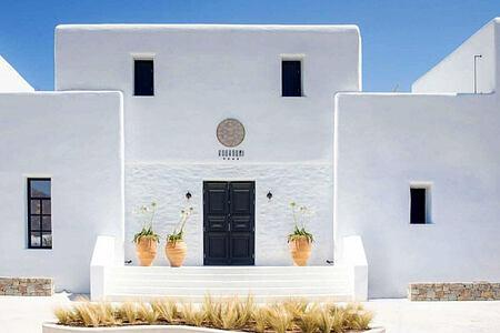 Koukoumi Hotel Mykonos -front door header