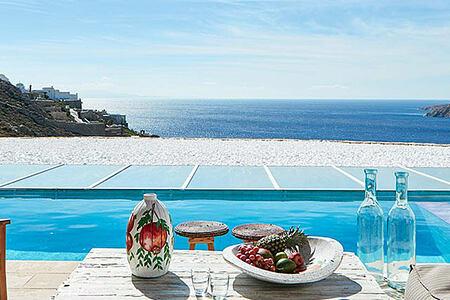 Myconian Villas Mykonos view across the sea-header