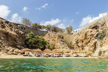 Wild Hotel Mykonos beach from the sea